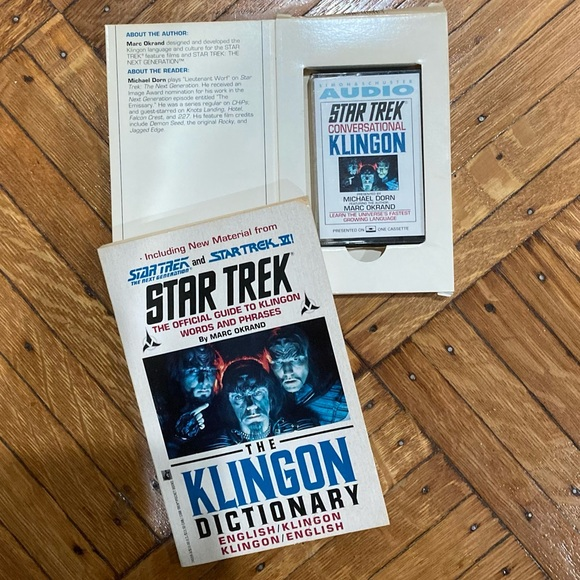 Star Trek Conversational Klingon Book & Cassette